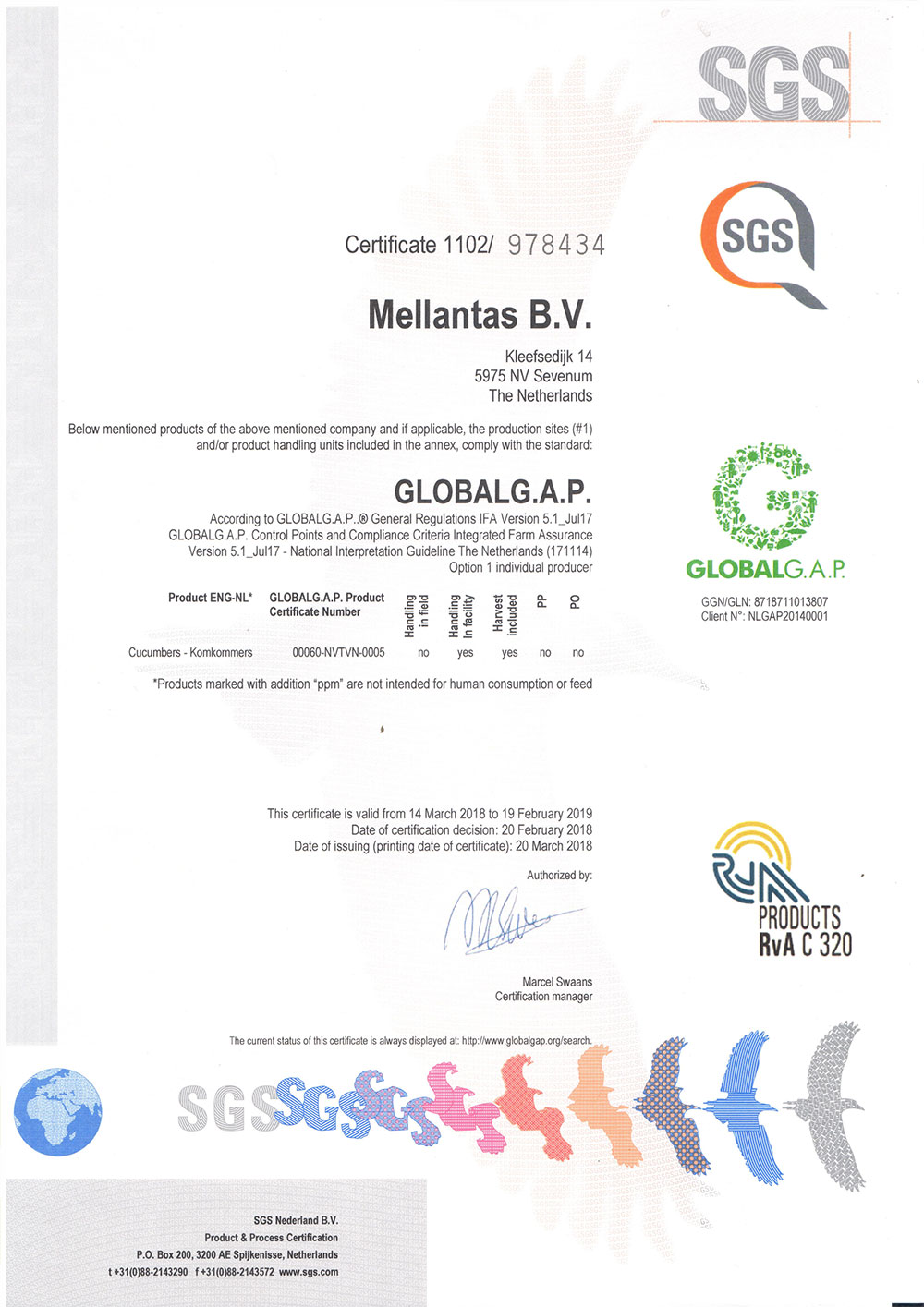 Certificate Global Gap
